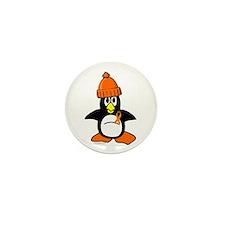 Winter Penguin 1 Leukemia Mini Button (100 pack)