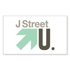 J Street U Rectangle Decal