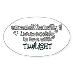 In Love with Twilight Oval Sticker