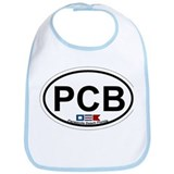 Pensacola Beach Oval Design Bib