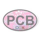 Pensacola Beach Oval Design Oval Decal