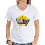 Plymouth Rock Sunrise Women's V-Neck T-Shirt
