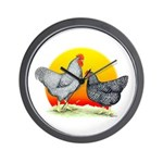 Plymouth Rock Sunrise Wall Clock