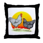 Plymouth Rock Sunrise Throw Pillow