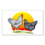 Plymouth Rock Sunrise Rectangle Sticker 10 pk)
