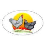 Plymouth Rock Sunrise Oval Sticker (10 pk)