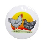 Plymouth Rock Sunrise Ornament (Round)