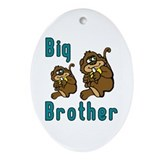 Big Brother with Monkeys Oval Ornament