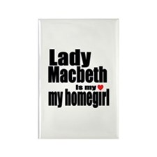 Lady M Rectangle Magnet