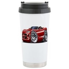 Viper Roadster Maroon Car Ceramic Travel Mug