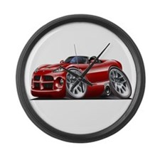 Viper Roadster Maroon Car Large Wall Clock