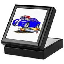 Viper Blue/White Car Keepsake Box