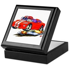 Viper Red/White Car Keepsake Box