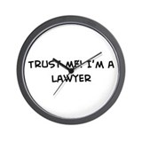 Trust Me: Lawyer Wall Clock