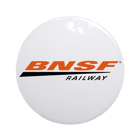 BNSF Railway Round Ornament
