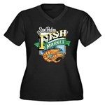 San Pedro Fish Market Women's Plus Size V-Neck Dar