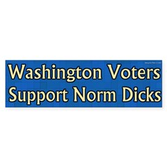 Voters for Norm Dicks bumper sticker