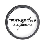 Trust Me: Journalist Wall Clock