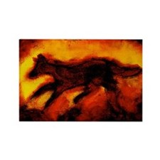 Fire Wolf Rectangle Magnet (10 pack)
