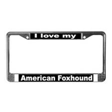 """American Foxhound"" License Plate Frame"