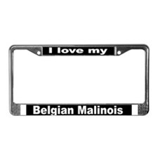 """Belgian Malinois"" License Plate Frame"