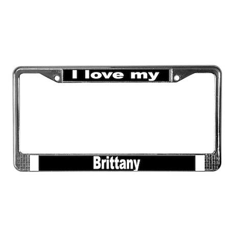 """Brittany"" License Plate Frame"