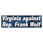 Virginia Against Frank Wolf bumper sticker