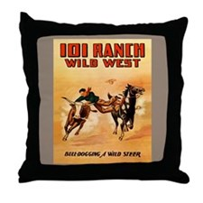 Funny Cowboy dad Throw Pillow