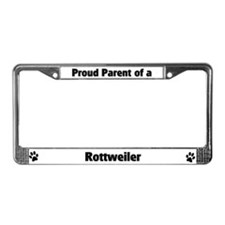 Proud: Rottweiler  License Plate Frame