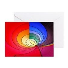 Abstract Circles Greeting Card