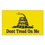 Dont Tread On Me Rectangle  Aufkleber
