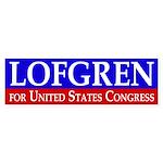 Lofgren for Congress Bumper Sticker