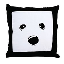 Westie Face Throw Pillow