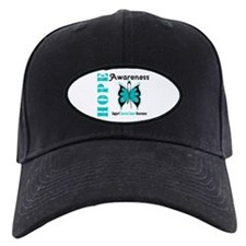 Ovarian Cancer Butterfly Baseball Hat
