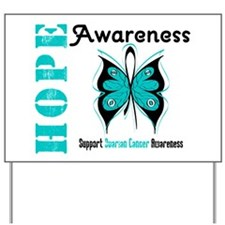 Ovarian Cancer Butterfly Yard Sign