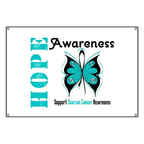 Ovarian Cancer Butterfly Banner