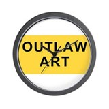 Outlaw Art Wall Clock