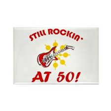 Rockin' 50th Birthday Rectangle Magnet
