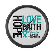 Ovarian Cancer Hope Large Wall Clock