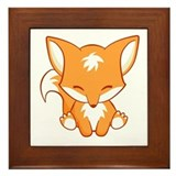 Happy Fox Framed Tile