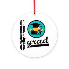 Ovarian Cancer Chemo Grad Ornament (Round)