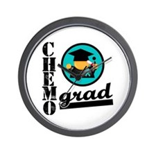 Ovarian Cancer Chemo Grad Wall Clock