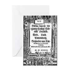 Luther's 1534 Bible-Greeting Card