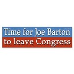 Joe Barton bumper sticker