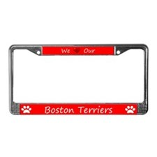 Red We Love Our Boston Terriers Frame