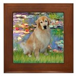 Lililes (#2)-Golden 10 Framed Tile