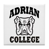 adrian college bulldog wear Tile Coaster