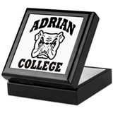 adrian college bulldog wear Keepsake Box