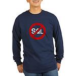 """No SQL"" Long Sleeve Dark T-Shirt"
