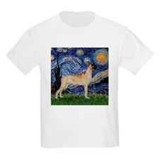 Starry Night Great Dane Kids T-Shirt